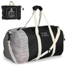 Foldable Travel Luggage Duffle Bag Lightweight Blk