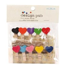 Mini Natural Wooden Clothespins Photo Paper Peg Pin Craft Clips with 2m Jute Twine, T