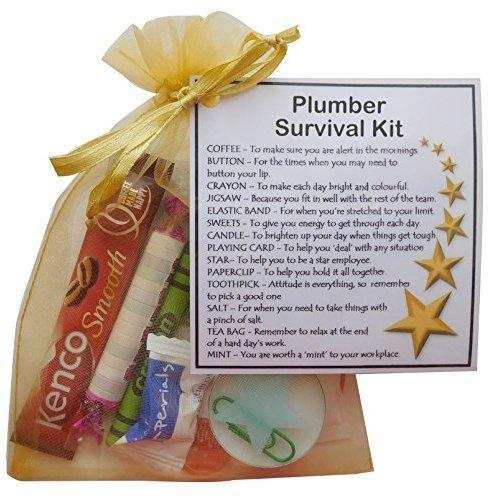 Plumber Survival Kit Gift  - New job, work gift, Secret santa gift for colleague, gift for Plumber gift