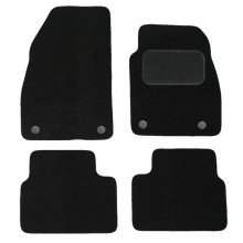 Car Mats for Vauxhall Insignia (2008 - 2013) Vehicle Specific Tailored - BLACK Needle punched Carpet