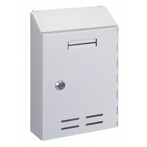 Post Box Mail Box Key Lockable Outdoor Wall Rottner Standard I White