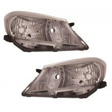 Toyota Yaris 2011-2014 Headlights Lamps Chrome Inner Black Trim 1 Pair O/s & N/s