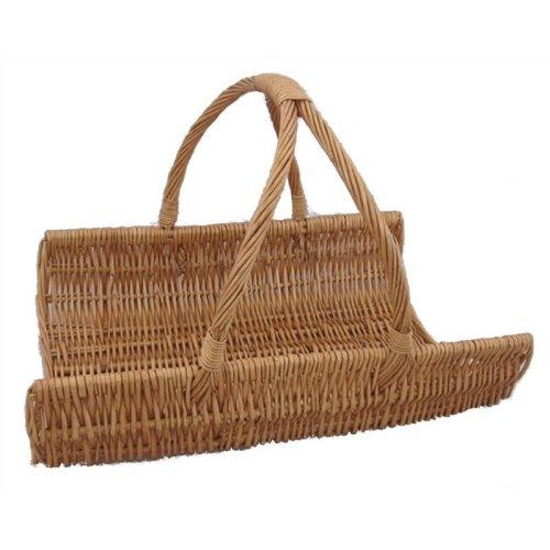 Wicker Flat Log Basket
