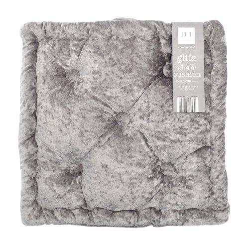 Country Club Velvet Seat Pad, Dusky Grey