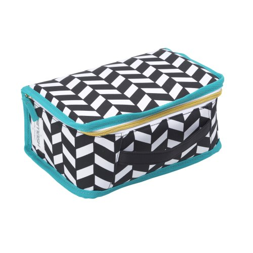 Smash Insulated Lunch Bag, Polyester, Black/White, 24.5 x 10.5 x 17 cm