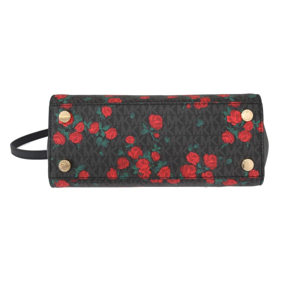 4f66b5006181 ... Michael Kors Handbags Black Red SELMA Leather Messenger Bag - 4 ...