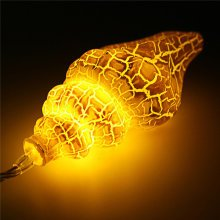10 LED Crack Colorful Conch Shaped String Light