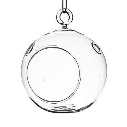 Athenas Garden HCH0105 5 in. Clear Round Hanging Terrarium Globe, Set of 2