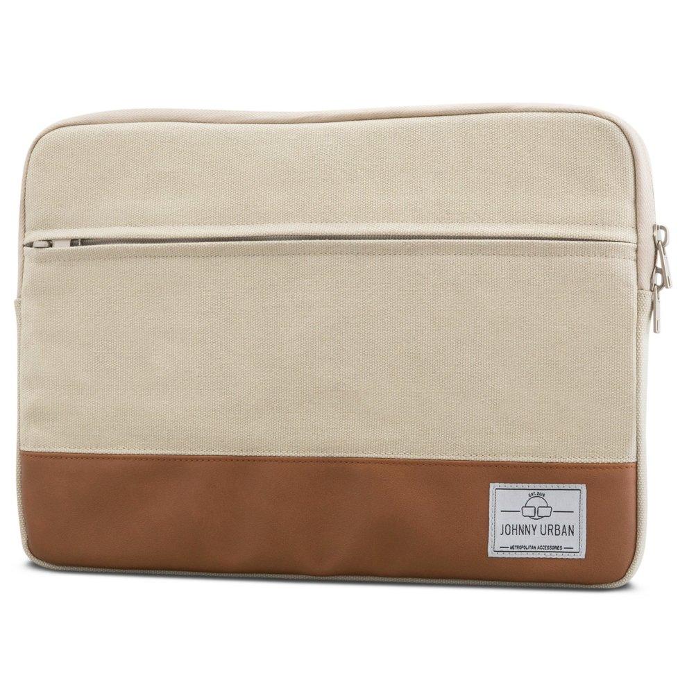 Johnny Urban Laptop Sleeve 15-15 6 Inch Sand Canvas Bag for 15