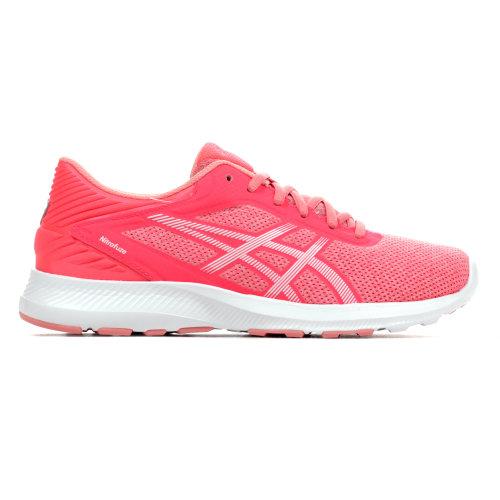 Asics Nitrofuze Womens Running Fitness Trainer Shoe Pink/ White