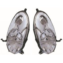 For Nissan Micra K12 Hatchback 2003-2007 Chrome Headlights Lamps Pair O/S & N/S