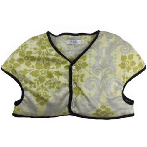 Women Prevent Arthritis Pain Thick Velvet Shoulder Warmers Clothing Jacket XXL Size(Yellow)