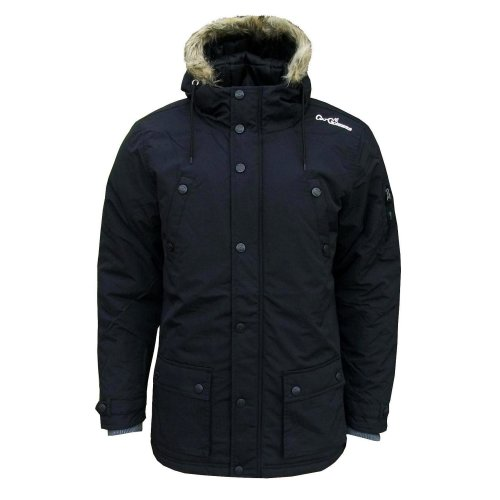 Gio Goi Artisan Men's Parka Winter Padded Hooded Coat Jacket midnight dark blue