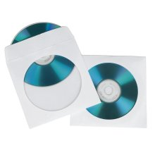 Hama Universal CD / DVD White Paper Sleeves Pack of 100 CD/DVD