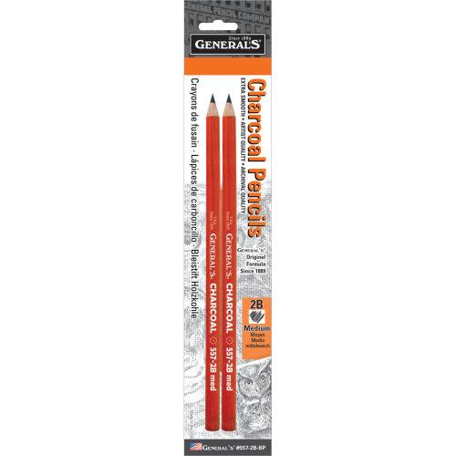 Charcoal Pencils 2/Pkg-2B