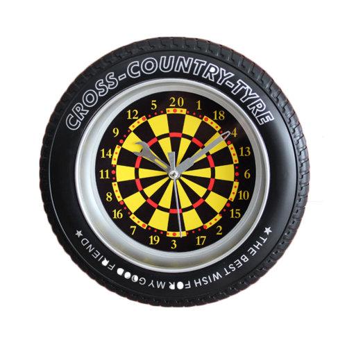 Creative Tire Dart board Wall Clock Fashion Look Home Decoration(8'')