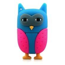 16 Gb Pink And Blue Owl Shape Bird Animal Novelty Memory Stick USB Flash Drives