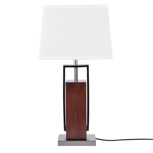 Table Lamp Dark Wood with White VEDI