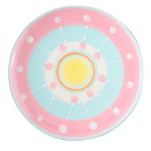 2 Pcs Colorful Ceramic Dessert Plate Hand-painted Pastry Tray