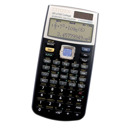 CITIZEN SR-270X Scientific Calculator College Uni Black GCSE A Levels Exam