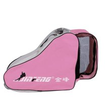 Rollerblading Gear Triangle Skates Bag With Advanced Single Shoulder Pink