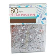 Set of 80 Pure Color Drawing Pins Beautiful and Practical Office Supplies,White