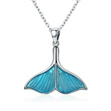 Blue & Silver Mermaid Fashion Necklace | Mermaid Tail Pendant