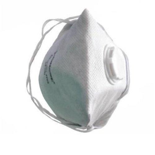 Silverline Fold Flat Valved Face Mask Ffp3 Nr Display Box 25pk Ffp3 Nr -  ffp3 fold flat valved mask nr respirator dust silverline safety 25 filter