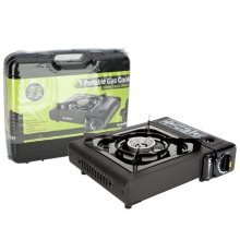 Summit Portable Camping Gas Stove -  gas stove summit portable cooker camping case compact carry