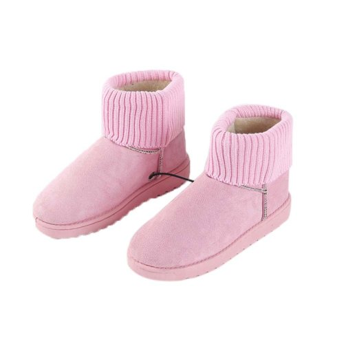 [Pink] Heating Shoes Warm USB Electric Heated Boots usb Foot Warmer for Winter 24cm