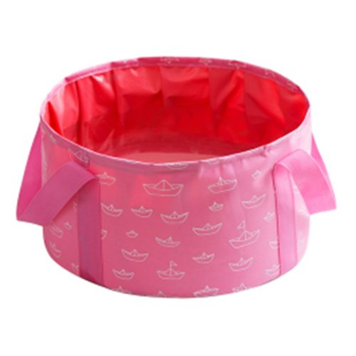 10L Portable Folding Wash Basin Leak-proof Foldable Bucket Footbath Basin with Carrying Pouch #42