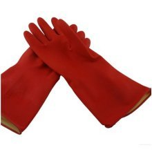 Thick Rubber Gloves Multi-purpose Gloves Warm Glove Washing Cleaning Glove RED