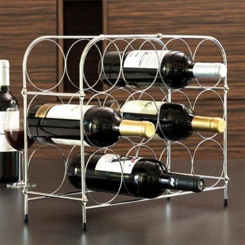 Wine Rack 12 Bottle - Chrome