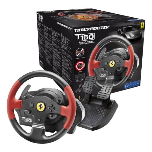 Thrustmaster T150 Ferrari Force Feedback Official Racing Wheel - PS4/PS3/PC DVD