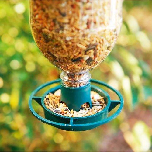 Parkland Pack of 2 Bottle Top Hanging Bird Feeder Kit - RECYCLE Drink Bottles Into Wild Bird Feeders