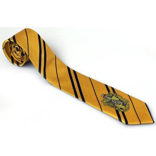 Harry Potter Hufflepuff Tie - Hogwarts Cosplay Fancy Dress