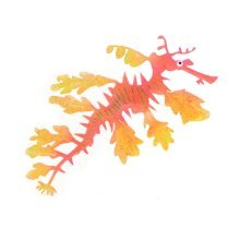 Creative Emulational Sea Dragon Aquarium Ornament, Red