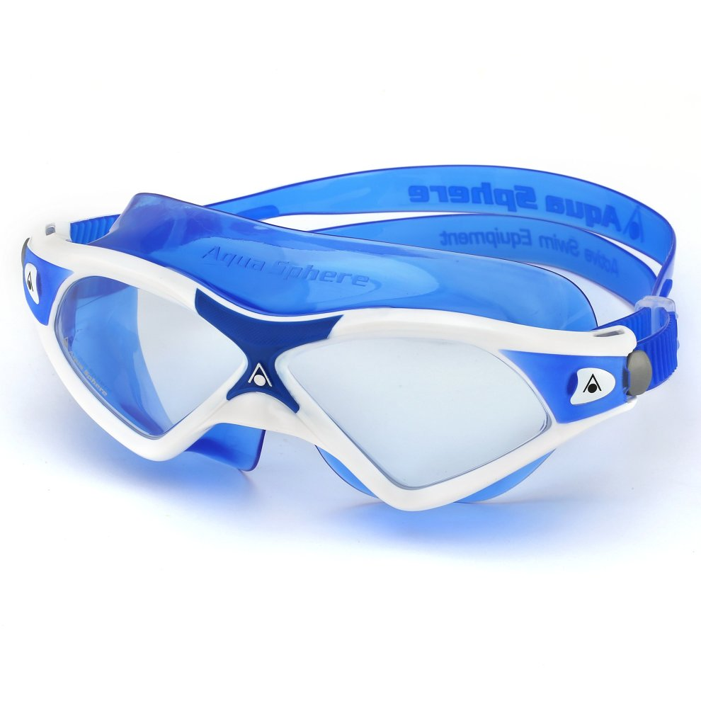 bf312147c991 ... Aqua Sphere Seal XP2 swimming Mask with Clear Lens - White Blue - 4 ...