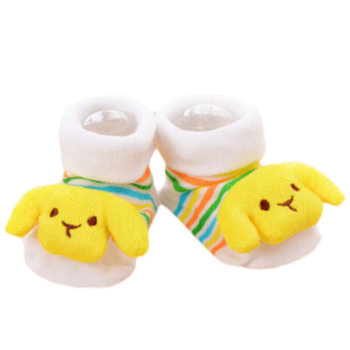 3 Pairs Non-slip Newborn Baby Boy Girls Toddler Socks Warm Stockings Baby Birthday Gift For 6-12 Month Baby-A11