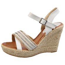 Rita Womens High Wedge Heel Peep Toe Espadrille Sandals