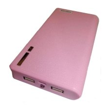 Lms Data Dual Usb Devices Pocket PowerBank Charger 11500mAh - Pink