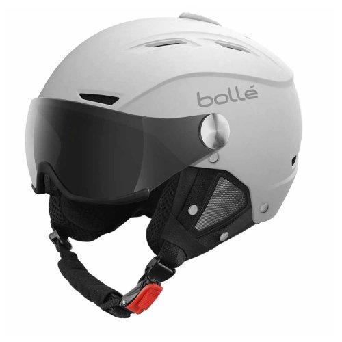 Bolle Backline Visor Ski Helmet - Soft White & Silver