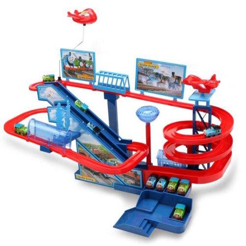 Orbital Amusement Park with 5 Toy Trains  for Children Kids Battery Version