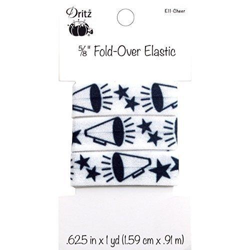 Dritz Fold Over Elastic Sports Motifs 58 by 1 yd Cheer
