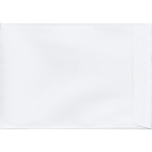 White Peel/Seal C4/A4 Coloured White Envelopes. 120gsm Luxury FSC Certified Paper. 324mm x 229mm. Wallet Style Envelope.