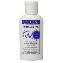 Eco-Dent Extra Brite Tooth Whitener, Without Fluoride, Dazzling Mint, 2 oz (56 g)