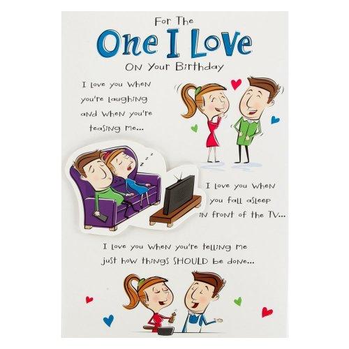Hallmark Birthday Card For One I Love, Funny Poem - Medium