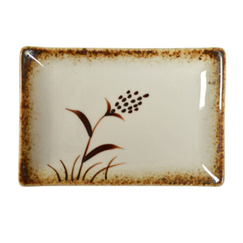 Creative Japanese Sushi Plate Rectangle Ceramic Dinner Plate, N