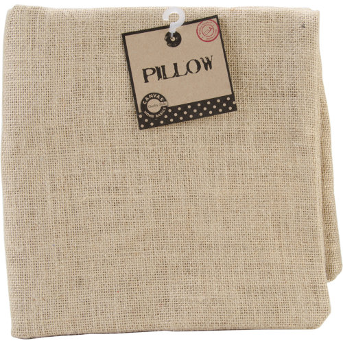 "Burlap Pillow Square 20""X20""-Natural"