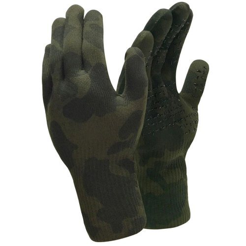 Dexshell Camouflage Fully Waterproof Breathable Gloves with Grip Dotting – Camo